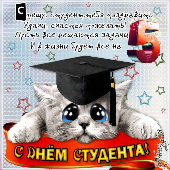 Поздравление с днём рождения студентке в прозе